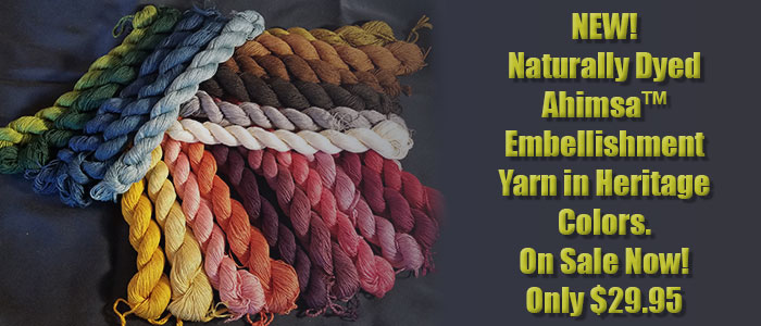 Naturally Dyed Ahimsa Embellishment Yarn